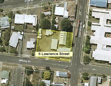 Aerial view of 6 Lawrence Street, Beaufort