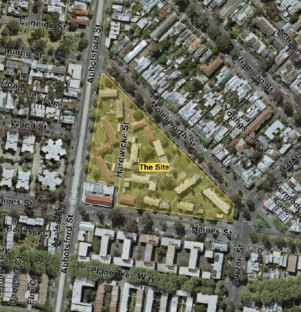 SH6 - 00. Aerial view of Abbotsford Street Noth Melbourne