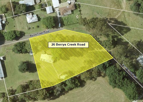 Aerial view of 26 Berrys Creek Road Berrys Creek