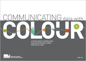 Communicating data with colour guide cover