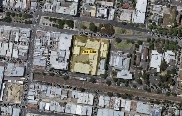 Aerial view of 1000 Whitehorse Road Box Hill