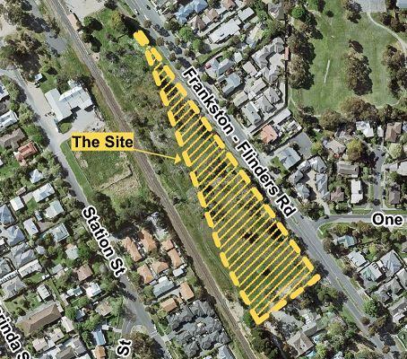 Aerial photo of 1080 Frankston-Flinders Road, Somerville