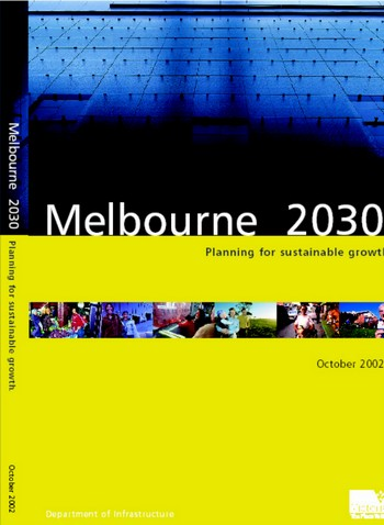 Front cover of the Melbourne 2030 report