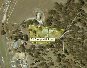 Aerial view of 31 Camp Hill Road Beaufort
