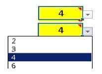 Image of example numbers included in the calculator tool