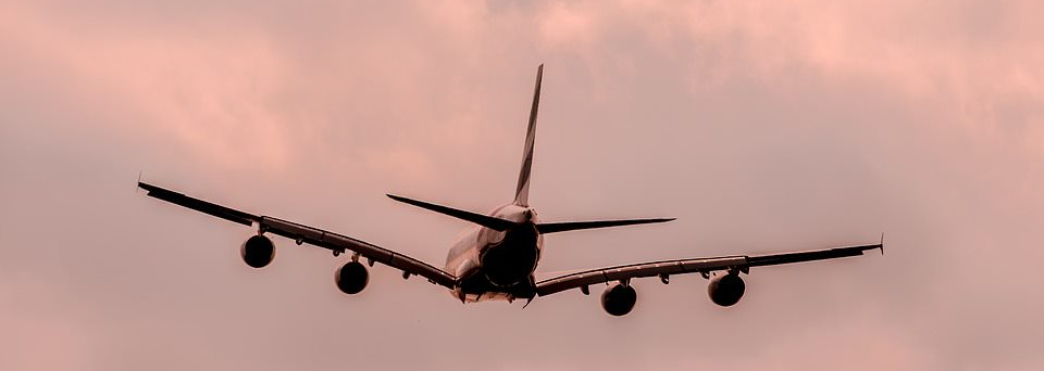 Photograph of plane in the air