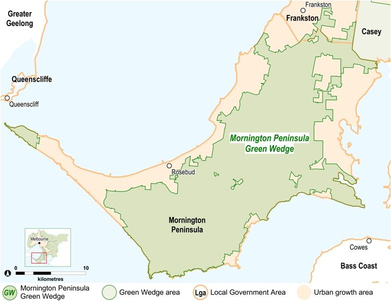 Mornington Peninsula Green Wedge Map