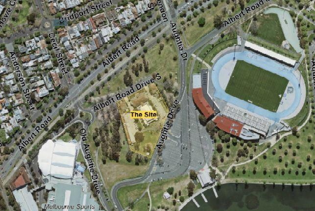 Aerial view of Albert Park Drive Albert Park