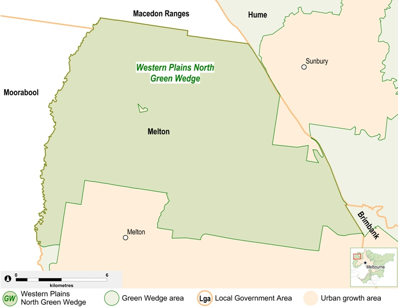 map of the Western Plians North Green Wedge area