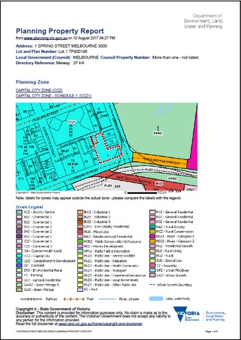 Planning Property Report
