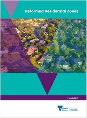 Cover of the Reformed Residential Zones report