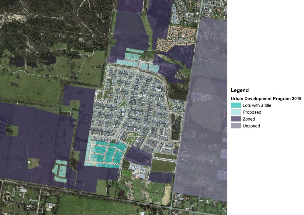 Sample of aerial imagery showing stages of supply